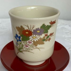 Beautiful hand painted Japanese tea cup - new